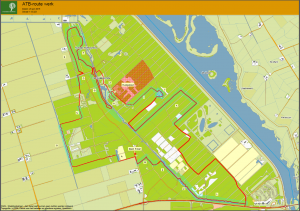 Geplande ATB-route in het Roggebotsebos in Dronten